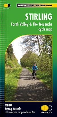 Harvey Cycle Map - Stirling, Forth Valley & The Trossachs