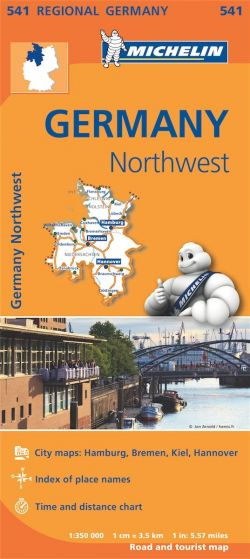 Michelin Regional Map - 541-Germany Northwest