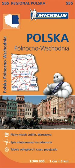 Michelin Regional Map - 555-Poland Northeast