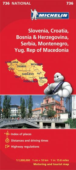 Michelin National Map - 736-Slovenia, Croatia, Bosnia