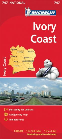 Michelin National Map - 747-Ivory Coast