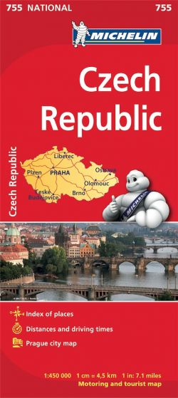 Michelin National Map - 755-Czech Republic