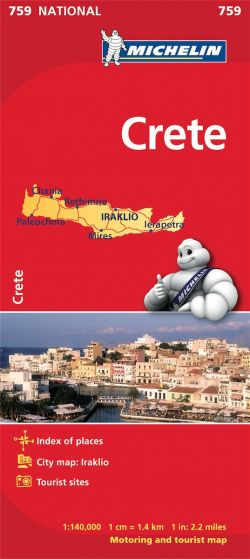 Michelin National Map - 759-Crete