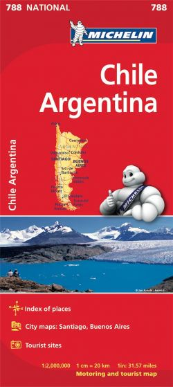 Michelin National Map - 788 - Chile & Argentina