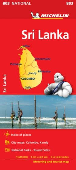 Michelin National Map - 803 - Sri Lanka