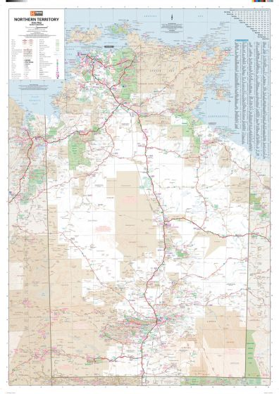 Northern Territory State Wall Map