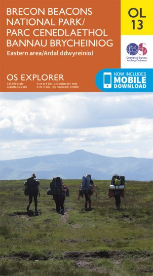 OS Explorer Leisure - OL13 - Brecon Beacons Nat. Park - East