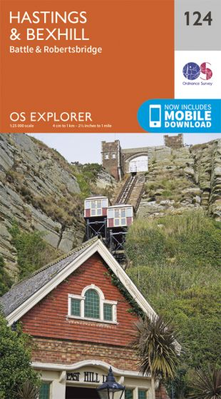 OS Explorer - 124 - Hastings & Bexhill