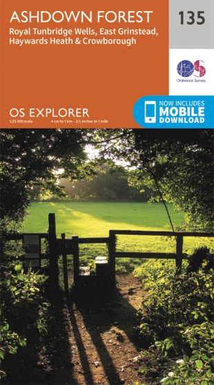 OS Explorer - 135 - Ashdown Forest