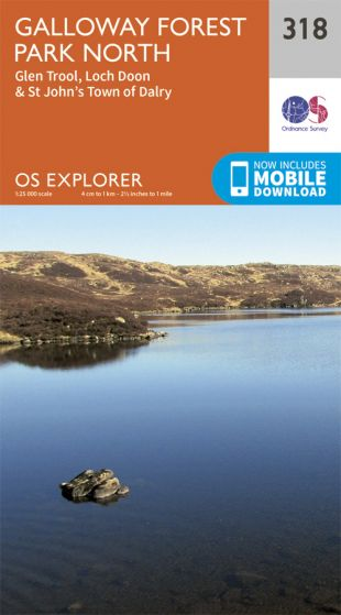 OS Explorer - 318 - Galloway Forest Park North