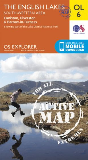 OS Explorer Active - 6 - The English Lakes - South Western