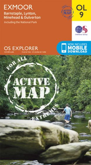 OS Explorer Active - 9 - Exmoor