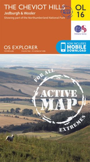 OS Explorer Active - 16 - The Cheviot Hills