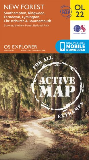 OS Explorer Active - 22 - New Forest