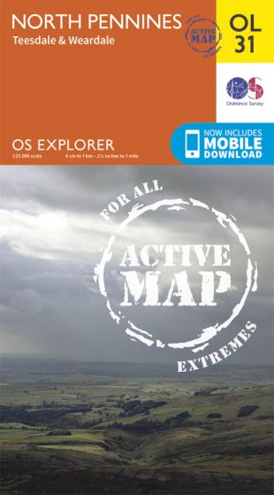 OS Explorer Active - 31 - North Pennines