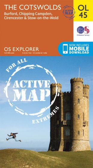OS Explorer Active - 45 - The Cotswolds