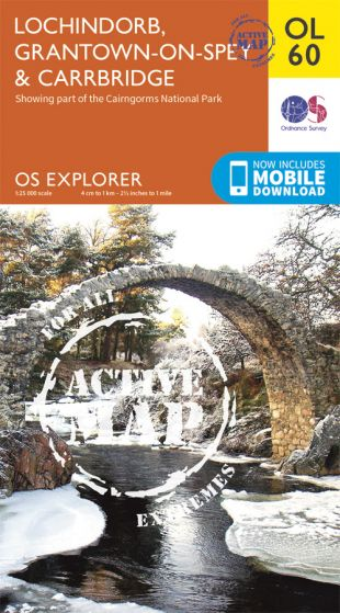 OS Explorer Active - 60 - Lochindorb, Grantown-on-Spey & Carrbridge