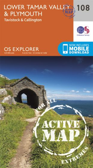 OS Explorer Active - 108 - Lower Tamar Valley & Plymouth