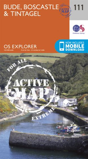 OS Explorer Active - 111 - Bude, Boscastle & Tintagel