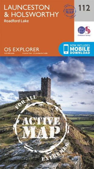 OS Explorer Active - 112 - Launceston & Holsworthy