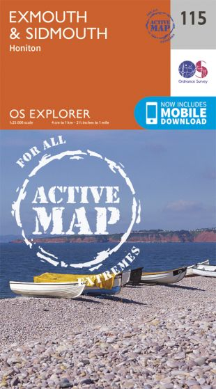 OS Explorer Active - 115 - Exmouth & Sidmouth