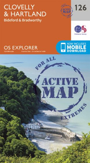 OS Explorer Active - 126 - Clovelly & Hartland