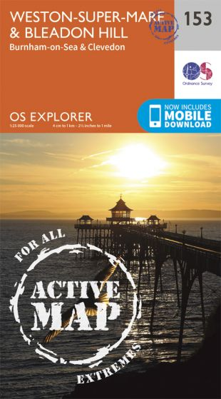 OS Explorer Active - 153 - Weston-super-Mare & Bleadon Hills