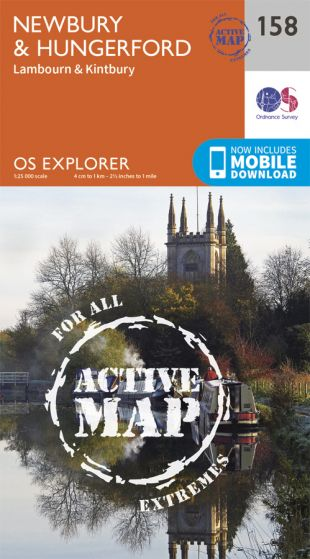 OS Explorer Active - 158 - Newbury & Hungerford