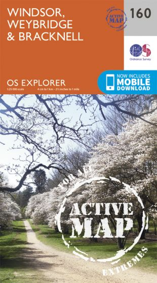 OS Explorer Active - 160 - Windsor, Weybridge & Bracknell
