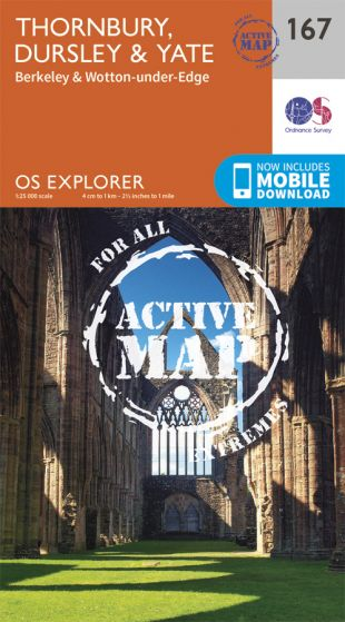 OS Explorer Active - 167 - Thornbury, Dursley & Yate