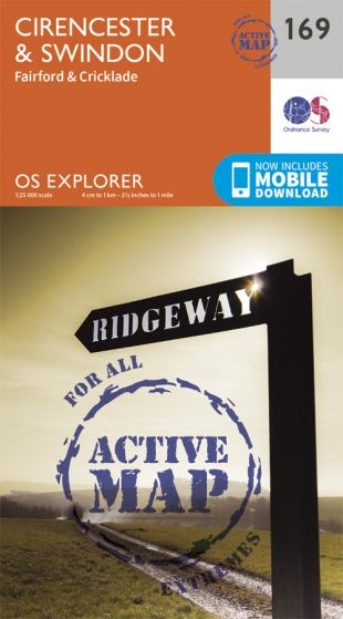 OS Explorer Active - 169 - Cirencester & Swindon