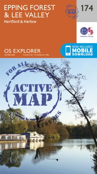 OS Explorer Active - 174 - Epping Forest & Lee Valley