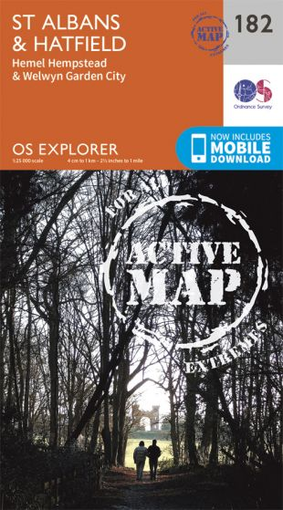 OS Explorer Active - 182 - St Albans & Hatfield