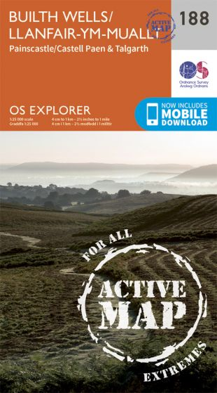 OS Explorer Active - 188 - Builth Wells