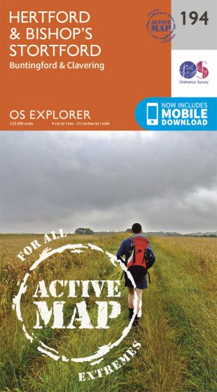 OS Explorer Active - 194 - Hertford & Bishop's Stortford