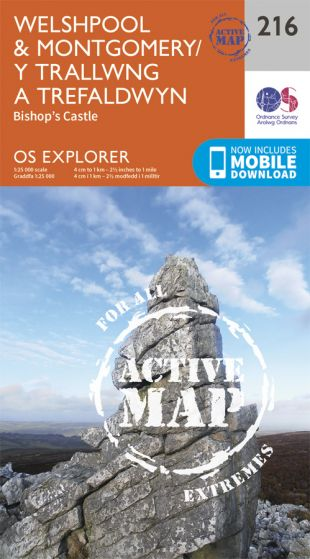 OS Explorer Active - 216 - Welshpool & Montgomery
