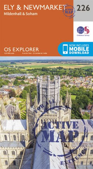 OS Explorer Active - 226 - Ely & Newmarket