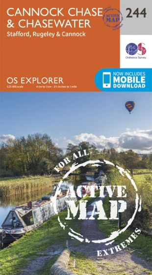 OS Explorer Active - 244 - Cannock Chase & Chasewater