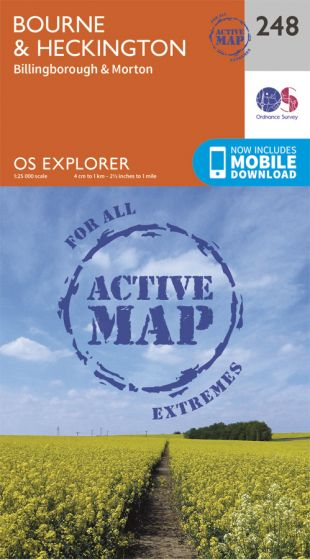 OS Explorer Active - 248 - Bourne & Heckington