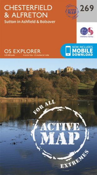 OS Explorer Active - 269 - Chesterfield & Alfreton