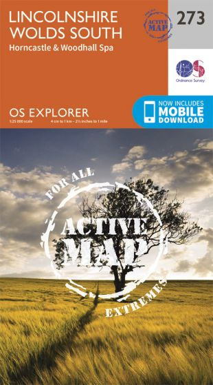 OS Explorer Active - 273 - Lincolnshire Wolds South