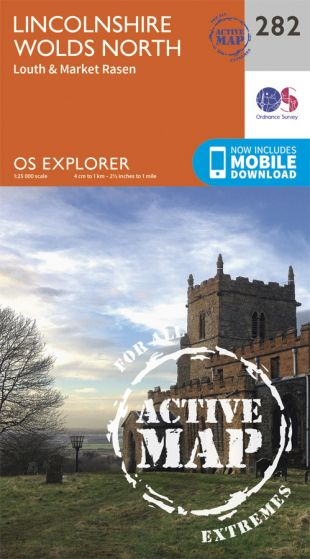 OS Explorer Active - 282 - Lincolnshire Wolds North