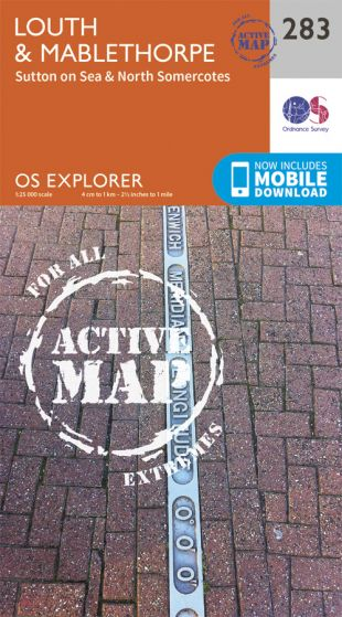 OS Explorer Active - 283 - Louth & Mablethorpe