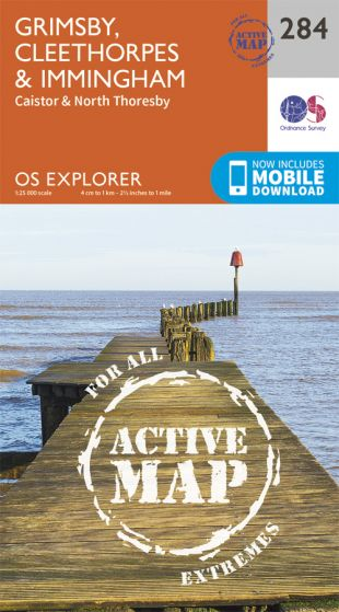 OS Explorer Active - 284 - Grimsby, Cleethorpes & Immingham