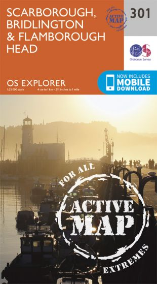 OS Explorer Active - 301 - Scarborough, Bridlington & Flamborough Head