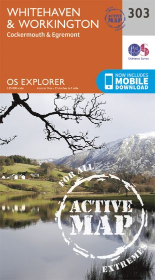 OS Explorer Active - 303 - Whitehaven & Workington