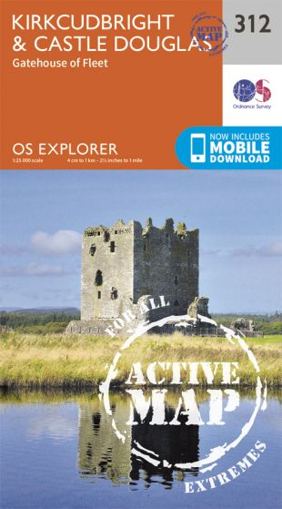 OS Explorer Active - 312 - Kirkcudbright & Castle Douglas