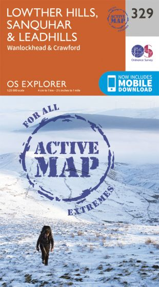 OS Explorer Active - 329 - Lowther Hills, Sanquhar & Leadhills