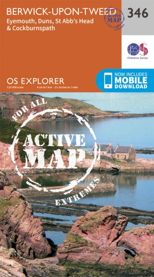 OS Explorer Active - 346 - Berwick-upon-Tweed
