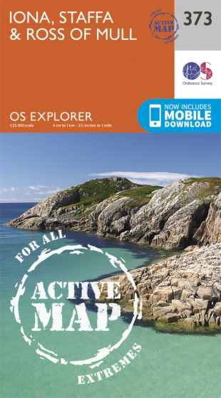 OS Explorer Active - 373 - Iona, Staffa & Ross of Mull